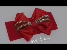 DIY LAÇO MIL FACES COM FITA DE GORGURAO COM MANTA DE STRASS - YouTube