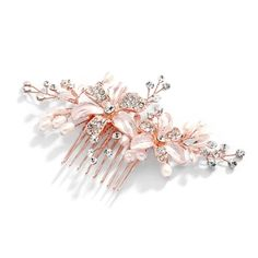 This top-selling Enchanting Rose Gold Freshwater Pearl Wedding Comb in rose gold will be a beautiful accessory for your bridal ensemble. Retro Wedding Hair, Rose Wedding, Wedding Things, Wedding White, Crystal Wedding, Dream Wedding, Gold Bridal Earrings, Bridesmaid Earrings, Rose Gold Lights
