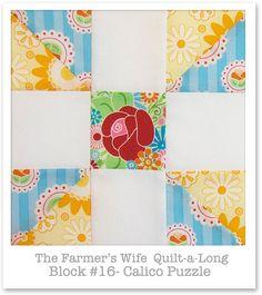 Farmer's Wife Quilt-a-Long - Block 16, via Flickr.