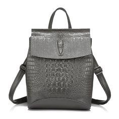 9c5e46614bd HAZ CLICK EN LA IMAGEN - REALER mujeres Mochila De Cuero mochilas para las  niñas adolescentes bolsa de hombro de las señoras imprime cocodrilo mochila  ...