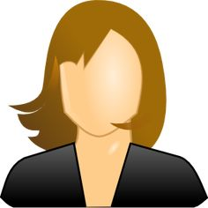 Female User Icon clip art_hair and clothes/ some colors