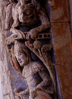 Detail, Refectory Door,  Abbaye Saint Aubin, Angers (Maine-et-Loire)  Photo by Dennis Aubrey
