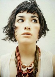 A short bob with bangs that reminds me of Amelie Poulain's