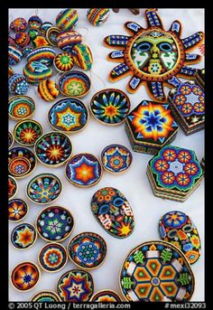 Mexican hand painted pottery