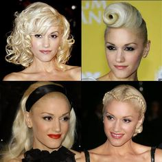 I LOVE gwen stefani and all her fun hairstyles!