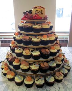 The Hobbit wedding cupcake tower