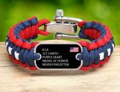 """Survival Straps-bracelets made out of military paracord! AWESOME!  This is the """"Military Memorial Collection""""!!!"""