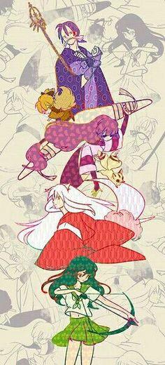 Siluetas de los personajes de Inuyasha♡
