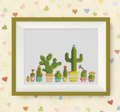 BUY 2, GET 1 FREE! Cactus Cross Stitch Pattern, pdf counted cross stitch pattern,  modern cross stitch pattern, P203 by NataliNeedlework on Etsy