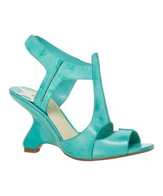 Take+a+look+at+the+Maxstudio.com+Turquoise+Aura+Leather+Sandal+on+#zulily+today!