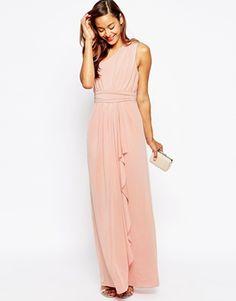 ASOS WEDDING - Sexy - Maxi robe asymétrique près du corps
