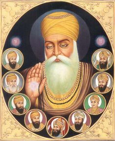the sikh gurus Guru Nanak Ji, Nanak Dev Ji, Guru Nanak Wallpaper, Guru Pics, Emperor Of India, Shri Guru Granth Sahib, Golden Temple, World Religions, Punjabi Quotes