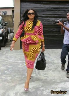 Classy picture collection of Beautiful Ankara Skirt And Blouse Styles These are the most beautiful ankara skirt and blouse trending at the moment. If you must rock anything ankara skirt and blouse styles and design. African Dresses For Women, African Print Dresses, African Print Fashion, Africa Fashion, African Attire, African Wear, African Fashion Dresses, African Women, Fashion Prints
