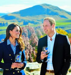 """colormecambridge:  """"The Duchess did take a little sip - but I don't think she's a big drinker. I think the Duchess was more interested in the gardening - she seemed quite knowledgeable in the pruning aspect of the vines."""""""
