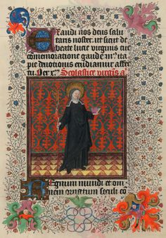 St. Scholastica | Hours of Catherine of Cleves, in Latin | Illuminated by the Master of Catherine of Cleves | Utrecht, The Netherlands | ca. 1440 | The Morgan Library & Museum