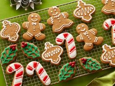 Gingerbread Cookies with Royal Icing Recipe : Sandra Lee : Food Network Holiday Baking, Christmas Baking, Italian Christmas, Cowboy Christmas, Christmas Snacks, Christmas Outfits, Outdoor Christmas, Winter Christmas, Baking Recipes