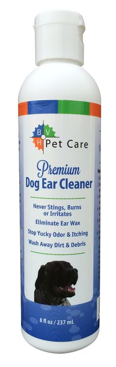 Dog Ear Cleaner Solution Made in USA - Never Stings, Burns or Irritates - Eliminate Ear Wax, Odor, Dirt & Debris - All Natural - Non Medicated - Cruelty-free - Alcohol Free - 8 Oz. Best Dog Shampoo, Natural Dog Shampoo, Dog Ear Cleaning Solution, Dog Ear Cleaner, Medication For Dogs, Ear Wax, Pet Gifts, Shampoo And Conditioner, Dog Grooming