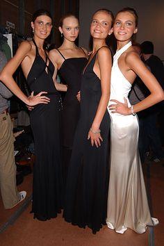 Michelle Alves, Gemma Ward, Natasha Poly, and Valentina Zelyaeva at Ralph Lauren fall 2005