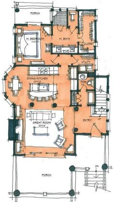New House Drawing Architecture Floor Plans Ideas The Plan, How To Plan, Detail Architecture, Architecture Plan, Drawing Architecture, California Architecture, House Sketch, House Drawing, Small House Plans