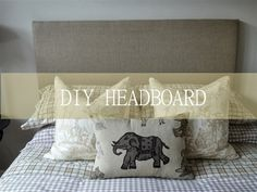 DIY Linen Headboard Tutorial DIY Linen Headboard – This simple to create Linen headboard will add a polished look to your bedroom. I created mine using simple steps and a method that works.