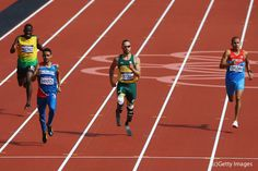 "Oscar Pistorius, South Africa. A disabled man competing against able-bodied competitors. ""…it was my goal to make it to the semi-finals, and I did."" London 2012 Olympics Track"