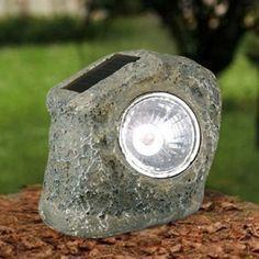 Doğal Taş Şekilli Güneş Enerjili Bahçe Lambası Solar Powered Lights, House, Solar Lights, Home, Homes, Houses