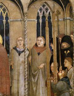 ❤ - SIMONE MARTINI (1285 - 1344) - Burial of Saint Martin,detail - 1312/17. Fresco, 284 x 230 cm. Cappella di San Martino, Lower Church, San Francesco, Assisi.