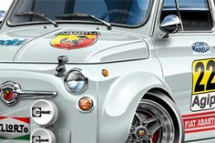 Fiat 500 Abarth Cartoon Car