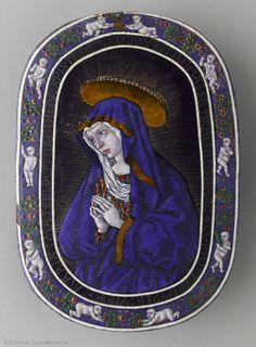 Maître du triptyque de Louis XII Plaque : Vierge douloureuseVers 1500 Limoges Émail peint sur cuivreH. : 30 cm. ; L. : 21 cm. Acquis en 1989 , 1989  OA 11170