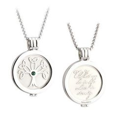 Tree of Life Necklace Double Sided Irish Coin Pendant 26 Chain -- Check out this great product. (This is an affiliate link) #ReligiousNecklaces