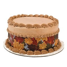 Fall Edible Image® Side Sheet Cake Decorations - OrientalTrading.com