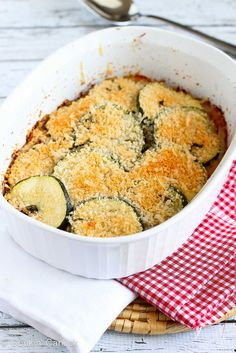 Healthy Zucchini, Tomato and Yellow Squash Gratin Recipe | cookincanuck.com #vegetarian #MeatlessMonday