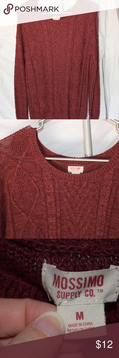 Red Knit Sweater Only worn a handful of times, great condition! Great for a formal casual event. Make an offer if you're interested! And don't forget about my bundle discount :) comment with questions! Mossimo Supply Co. Sweaters