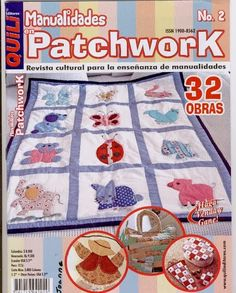 Fabric and Sewing - Many small patchwork projects. Baby Applique, Sewing Magazines, Crochet Magazine, Book Quilt, Patchwork Bags, Book Crafts, Craft Books, Quilt Making, Baby Quilts