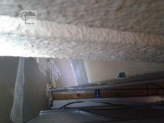 Lille. Dans un plénum, un flocage et crépi amianté contre l'incendie. #diagnosticsimmobiliers #amiante #asbestos #nord #lille lucarre.com