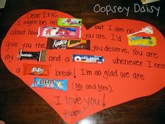 The 25 Days of Love Fun - Day Valentine Candy Grams - Happy Home Fairy Mom Birthday Crafts, 90th Birthday Gifts, Birthday Gift Baskets, Birthday Candy, Birthday Ideas, Candy Bar Cards, Candy Favors, Birthday Messages For Son, Happy Home Fairy