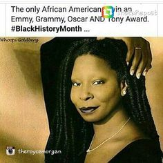Ms. Whoopi Goldberg  #blackhistorymonth #blackhistorymoment #blackhistoryfacts #blackhistory365