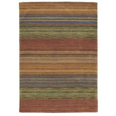 Autumn Glory Rug Warm Colors Are Washed For A Soft Effect Stripes Strie Across