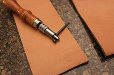 A great step-by-step on how to work with leather