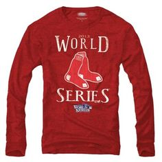 Majestic Threads Boston Red Sox 2013 MLB World Series Bound Participant Tri-Blend Long Sleeve T-Shirt - Red