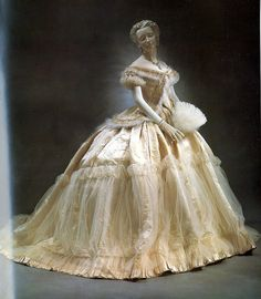 Evening dress, House of Worth, c. 1860.