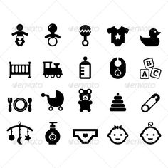 Baby Icon baby, bear, bed, birth, child, childhood, clothe, clothing, concept, design, diaper, duck, element, food, icon, isolated, milk, newborn, pictogram, pin, set, shampoo, shape, sign, stroller, symbol, toys, train, vector, Baby Icon