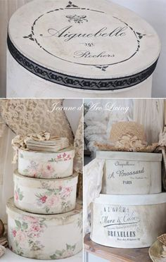 Hat Boxes, Decoration, Crafts To Make, Goodies, Shabby Chic, Paper Boxes, Place Card Holders, Comme, Armoire