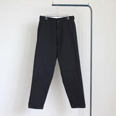 Chino Cloth Pants - tapared #black