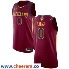 9d7a8b55b3b1 Nike Cavaliers  0 Kevin Love Red The Finals Patch NBA Authentic Icon  Edition Jersey Nba