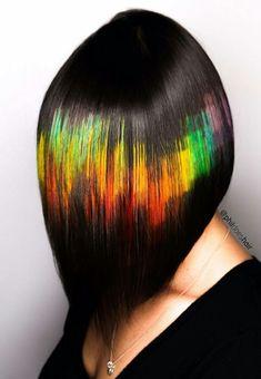 pixelated hair layer by layer great looks Hair Stenciling, Beautiful Hair Color, Hair Dye Colors, Coloured Hair, Pinterest Hair, Rainbow Hair, Crazy Hair, Hair Art, Hair Today