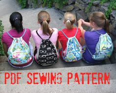 How to Make a Cinch Back Pack PDF Sewing Pattern by StudioCherie, $7.00