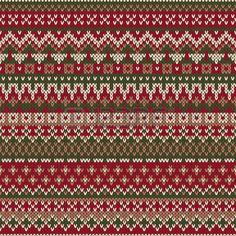 Navidad Dise�o su�ter. Sin costuras, modelo en el tradicional estilo de Fair Isle photo
