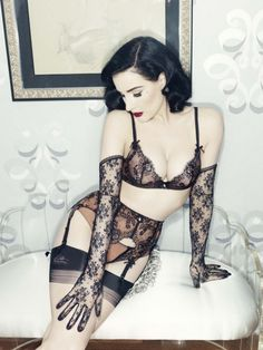 The new Dita Von Teese Lingerie collection is her best yet. Using gorgeous vintage-inspired shapes, Ms. Von Teese is quickly becoming the queen of lingerie. Belle Lingerie, Sexy Lingerie, Dita Von Teese Lingerie, Beautiful Lingerie, Hollywood Lingerie, Fashion Lingerie, Lingerie Outfits, Lingerie Underwear, Luxury Lingerie