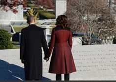 #44President #BarackObama #FirstLady #MichelleObama former President Bill Clinton and former Secretary of State Hillary Rodham Clinton participate in a wreath laying ceremony at the gravesite of #President #JohnFKennedy at Arlington National Cemetery in Arlington, Virginia, November 20, 2013.